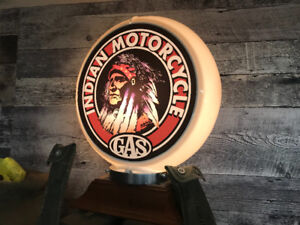Indian Motorcycle globe gas pump light