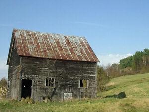 RECHERCHE terrain agricole plus en opération avec bâtiments
