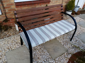 Garden Bench 4ft outdoor patio with cushion