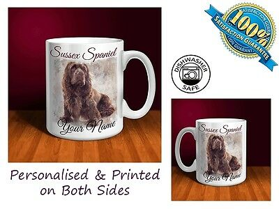 Sussex Spaniel Personalised Ceramic Mug: Perfect Gift. (D053)