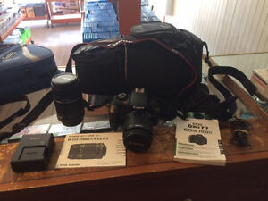 CANON EOS REBEL T3 + 2 OBJECTIF 18/55 55/250 + SAC DE TRANSPORT
