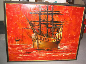 Pirate Ship - oil painting on canvas
