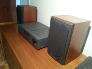 Petites boites de son en teak cerisier (bookshelf speakers)