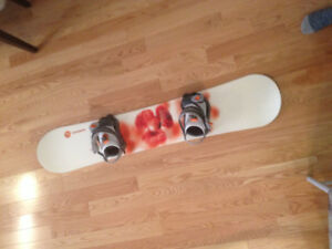 Women's snowboard with bindings - Rossignol 141 cm