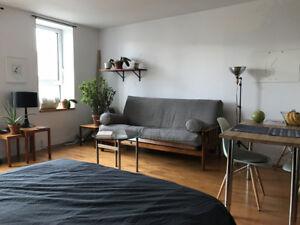 Beau studio Plateau, sous-location