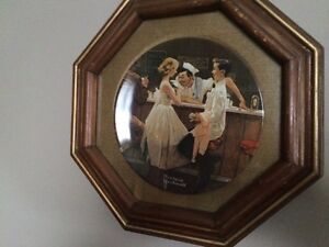 Norman Rockwell plates in frames Stratford Kitchener Area image 3