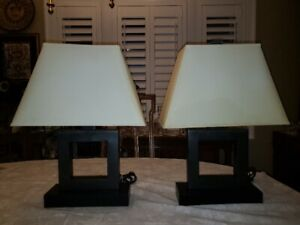 TWO MODERN TABLE LAMPS IN GOOD CONDITION $125.00 FOR THE PAIR!