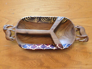 African Wood Snack Tray