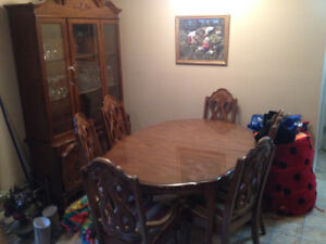 Dining Hutch and Table set