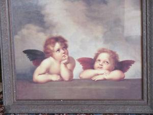 Vintage print of 2 cherubs