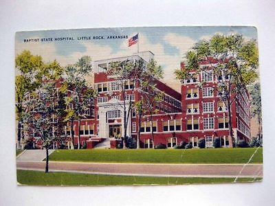 Vintage Linen Postcard of Baptist State Hospital in Little Rock Arkansas