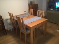 IKEA Table and 4 Chairs (Oak effect)
