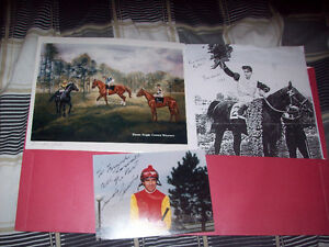 horse racing collection jockeys and art work,horse cards
