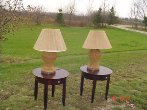 Two Wickers Lamps