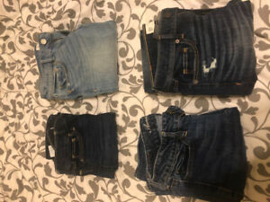 Abercrombie and American Eagle jeans