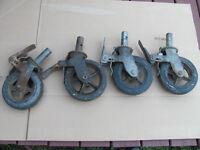 Roulettes d'échafauds
