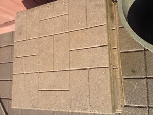 12 used patio slabs ( brick pattern) 24x24 very good condition