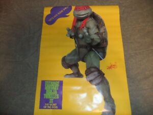 1991 teenage mutant ninja turtles posters new old stock