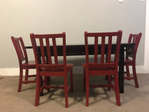 Kid's Playroom Furniture - Craft Table and Chairs & Book case