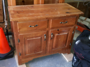 Hand Crafted Pine Hutch