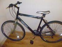 Mens Black Vertigo Bilbao trekking bike. Good condition. bearings gone in back wheel £40
