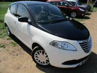 2013 CHRYSLER YPSILON S BLACK AND WHITE HATCHBACK PETROL