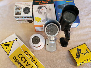 Faux Home surveillance security system video cameras  CCTV