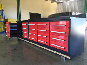 """8'6""""L Workbench, 6'3""""H Tool Cabinet, Industrial Grade *NEW*"""