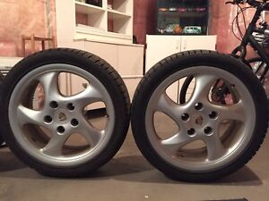 Porsche Boxster S (986) 18 inch wheels with winter tires Gatineau Ottawa / Gatineau Area image 2