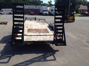 18ft Utility Trailer Float with 2x7000lb Axels for 14000lbs Sarnia Sarnia Area image 3