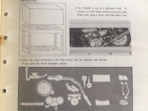 1970s OEM Yamaha TX XS RD Model Guides and Assembly Manuals Regina Regina Area image 7