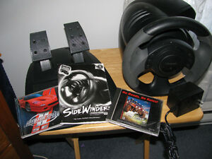 MICROSOFT PC SIDEWINDER STEERING WHEEL,ETC.