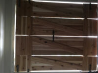 Hand built window shutters and blinds