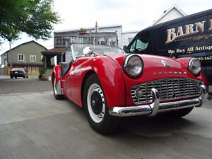 1961 Triumph TR-3 Up for Grabs, Fully Restored