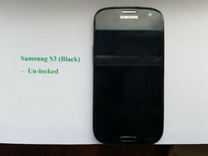Two Un-locked Samsung Galaxy S3 16GB in mint condition for sell