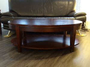 Pottery Barn Coffee table + side table real wood
