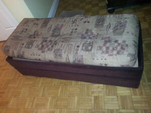 storage bench with pillow on top