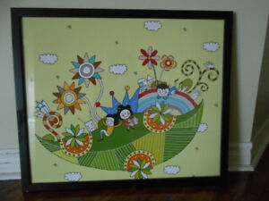 Happy  and fun poster with frame for  kids - Bradford, ON