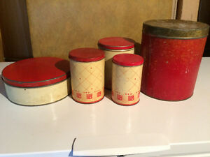 75 year old cannisters set
