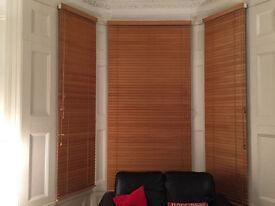 Long Wood Venetian Blinds, ideal for high ceilings