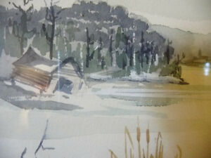Two Beautiful Watercolor Farming Landscapes by Des Major 1985 Stratford Kitchener Area image 9