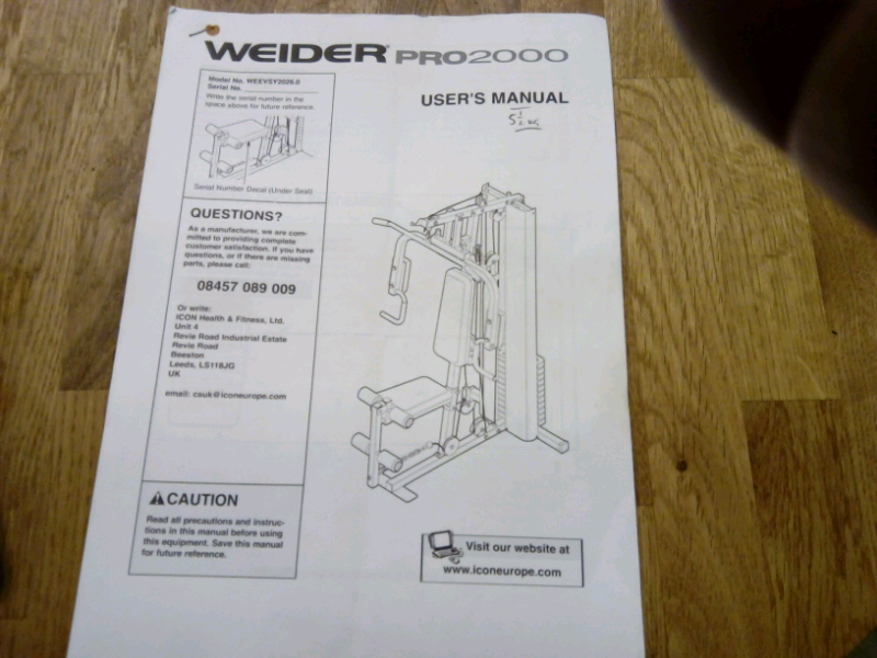 Weider pro 2000 multi gym free | in Alford, Lincolnshire | Gumtree