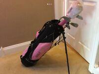 Golf Girl clubs and bag
