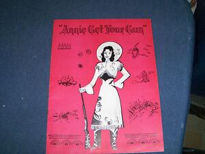 ANNIE GET YOUR GUN-1940'S PROGRAM-IRVING BERLIN-BILL WORTH+