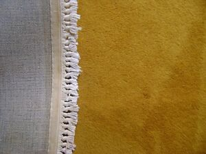 REDUCED !  GOLD WOOL AREA RUG 8' X 12'