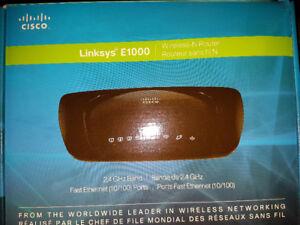 router sans fil N cisco linksys E1000