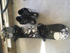 Snowboard and Boots (size 10)