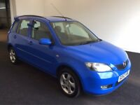 2004 53 Reg Mazda2 1.6 Sport, Petrol, Manual, 5 Door, Metallic Blue, FSH, March 2018 MOT