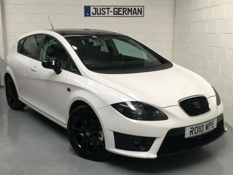 2010 10 seat leon 2 0 tdi cr fr candy white black roof justgerman wigan in wigan. Black Bedroom Furniture Sets. Home Design Ideas