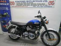 TRIUMPH BONNEVILLE T100. ONLY 710 MILES. STAFFORD MOTORCYCLES LIMITED